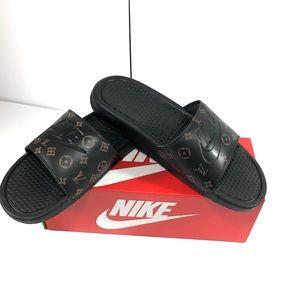 Nike Custom Slides LV Themed